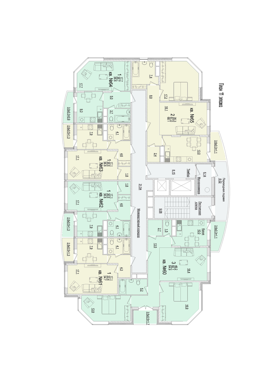 Планировка этажа 11